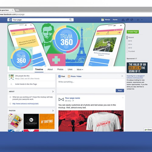 Trivia App Facebook Cover