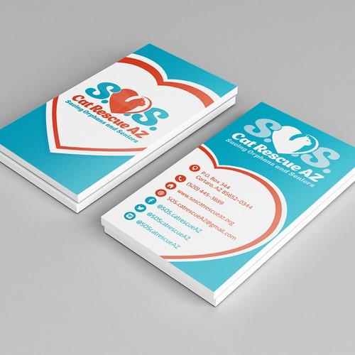 """Logo & business card for """"Cat S.O.S. AZ"""""""