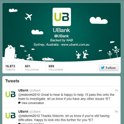 WANTED: Unique, Creative Twitter Profile for Online Bank