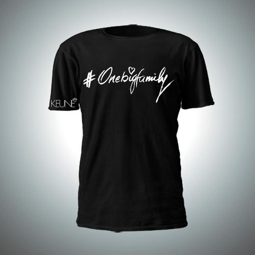 T-shirt design for #OneBigFamily