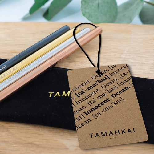 Hang tags / swing tags design for high-end ecommerce brand