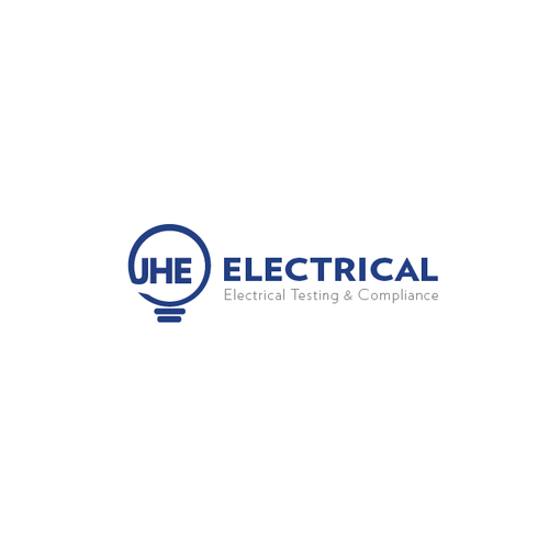 Lamp logo for electrical company