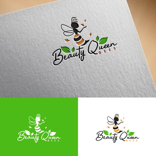 illustration Logo for Beauty Queen Bees