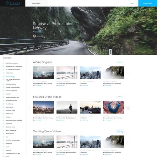 Video Platform Homepage
