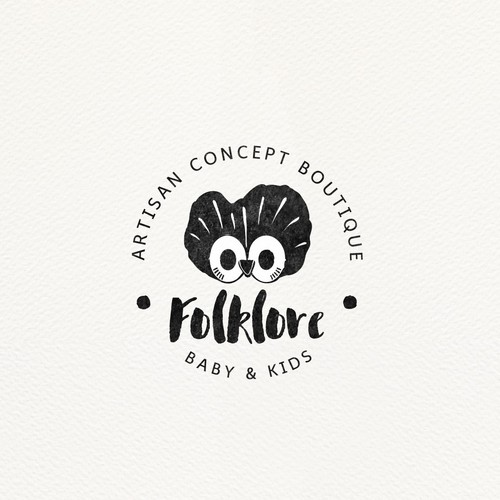 Vintage logo for kids products