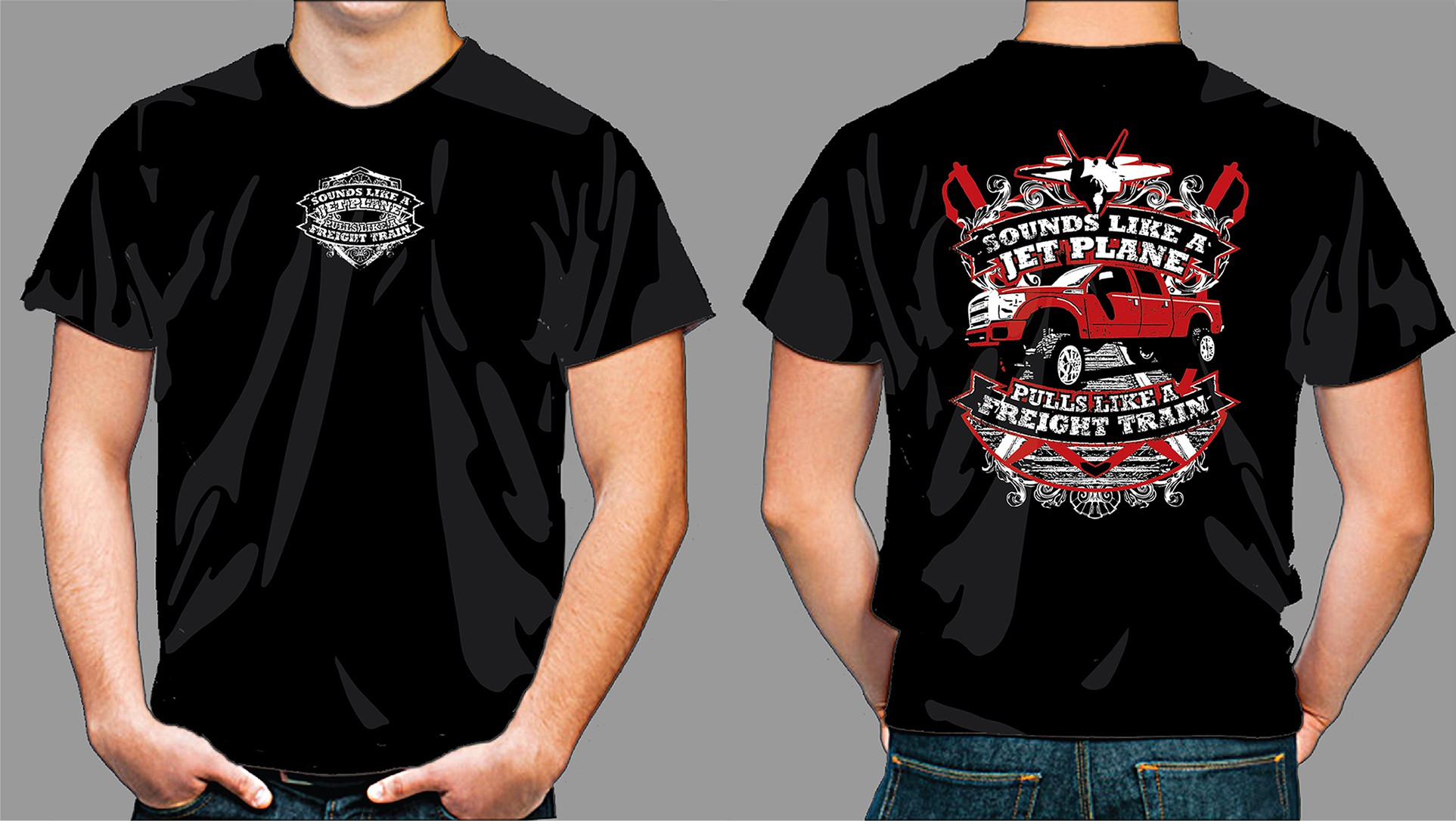 Create a professional Ford truck design for t-shirt.