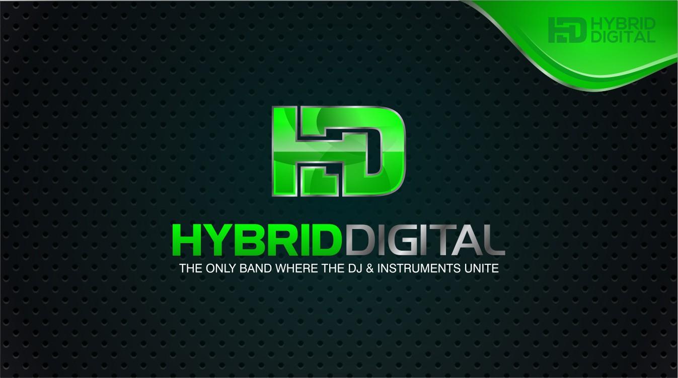 "Create the logo for ""Hybrid Digital""  - HD Band"