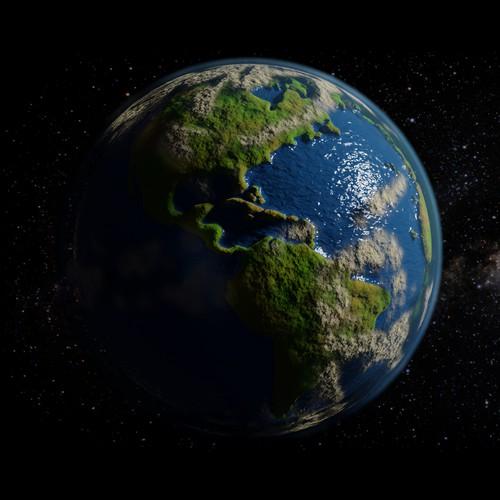 3D Stylized Globe of Planet Earth