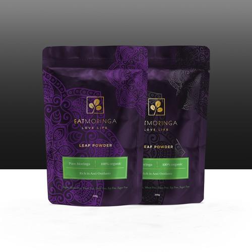 Packaging design for Leaf Powder Moringa