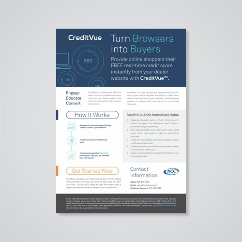 CreditVue Flyer Design