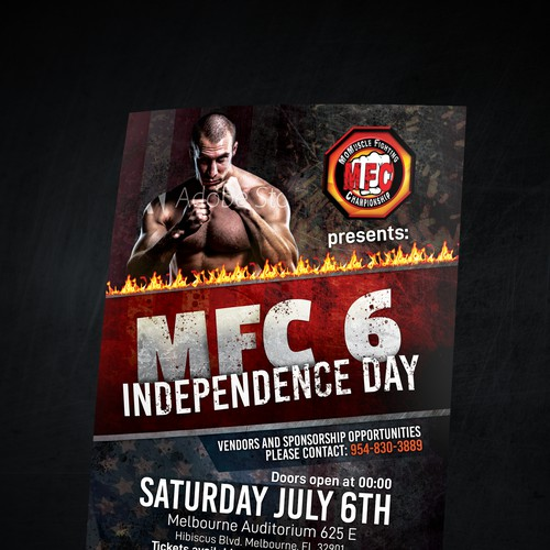 Flyer design for MFC Tournament