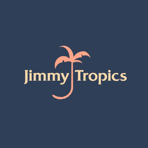 Another fun wordmark for Jimmy Tropics beachwear