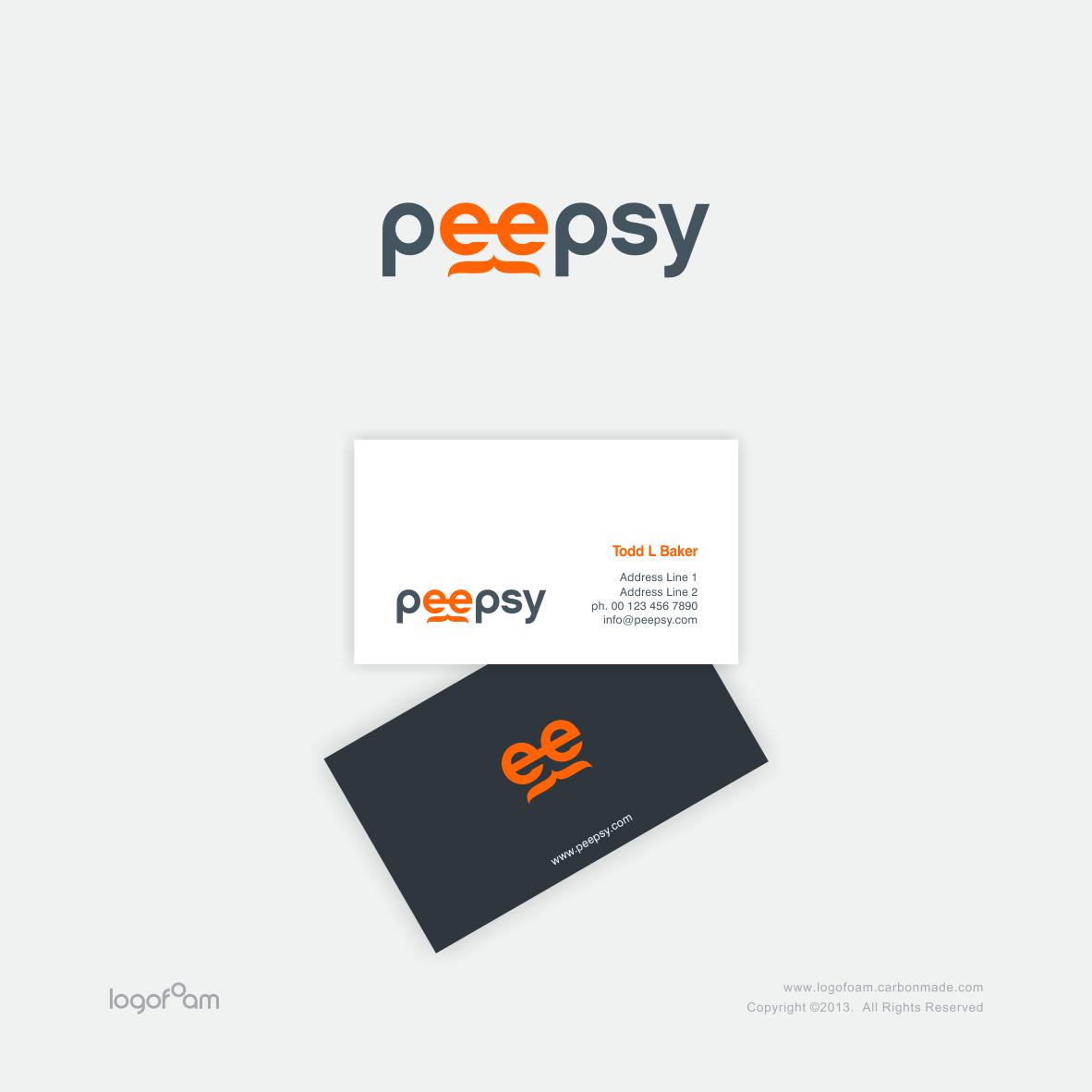 Create the next logo for Peepsy