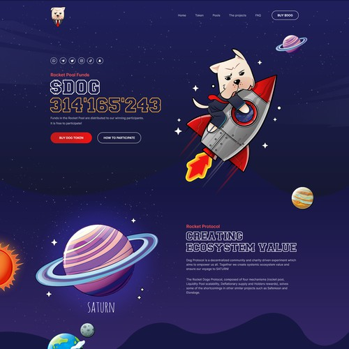 New Cryptocurrency landing page