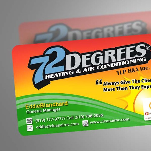 72 Degrees Promotion Card