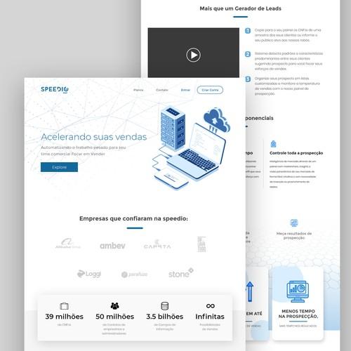 Homepage Speedio 3.0 website