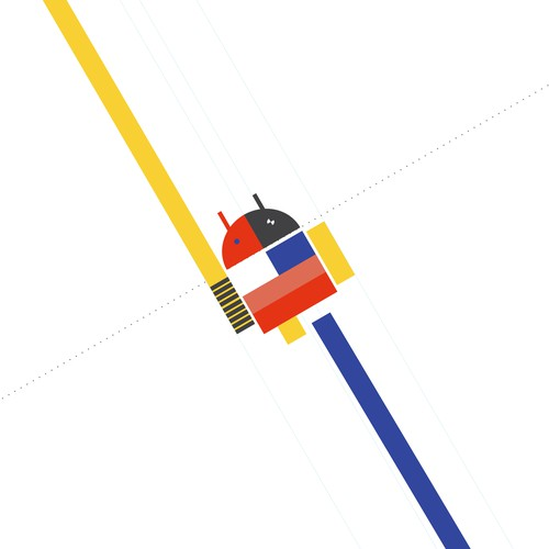 Bauhaus Android logo for 99d Community Contest - Runner up
