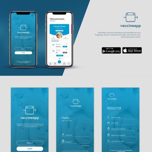 Vaccineapp Mobile UI Design