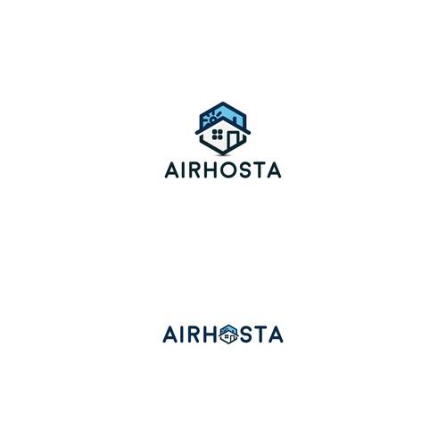 Airhosta logo design
