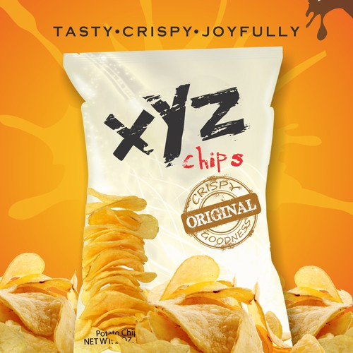 poster concept for XYZ potato chip 2