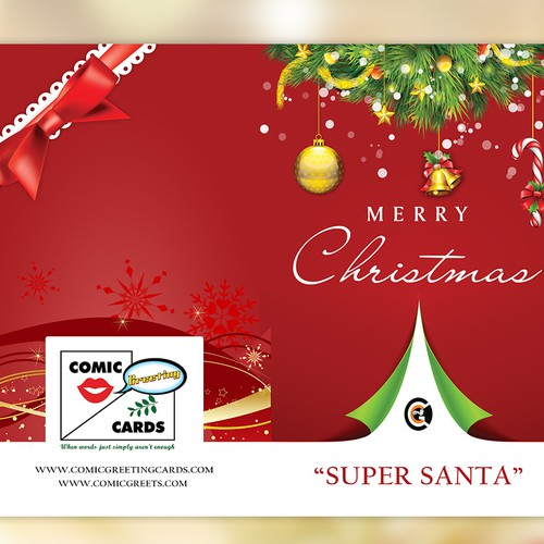 Create an Elegant Merry Christmas Card for Comic Greeting Cards