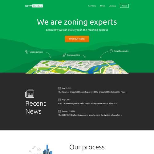 Website design for CityTrend