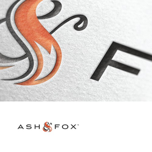 Logo and Business Card for Ash & Fox