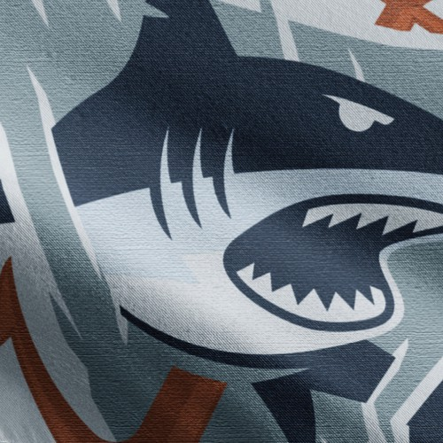 Badass shark logo design