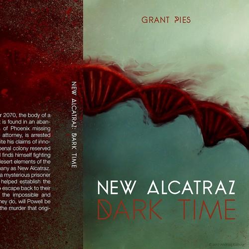 "Cover artwork for a book ""New Alcatraz: Dark Time"""