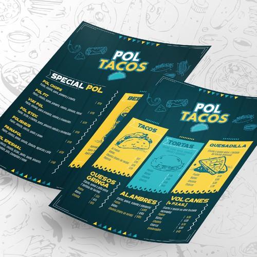 Menú Pol Tacos