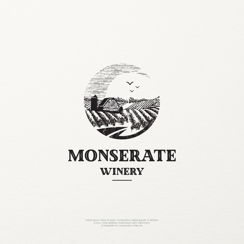 Logo concept for MONSERATE WINERY