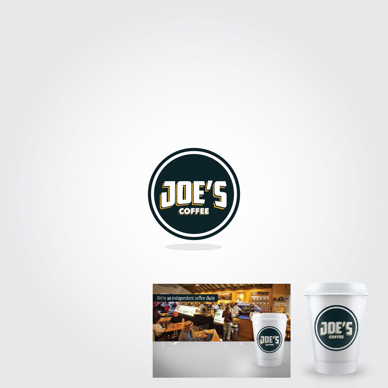 Logo for Joe's Coffee - Logo Design & Takeaway Coffee Cup
