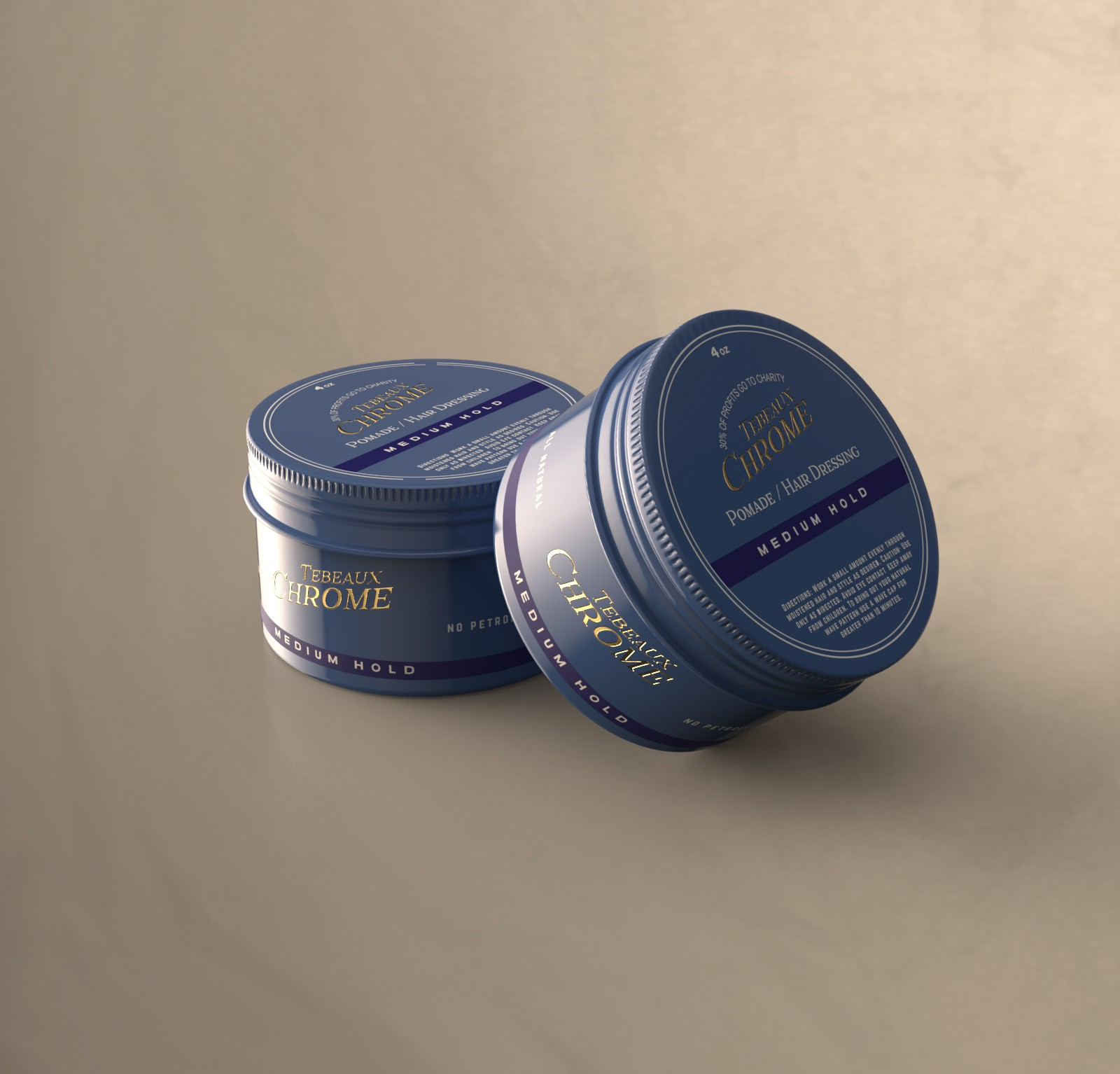 Design a pomade/hair dressing container