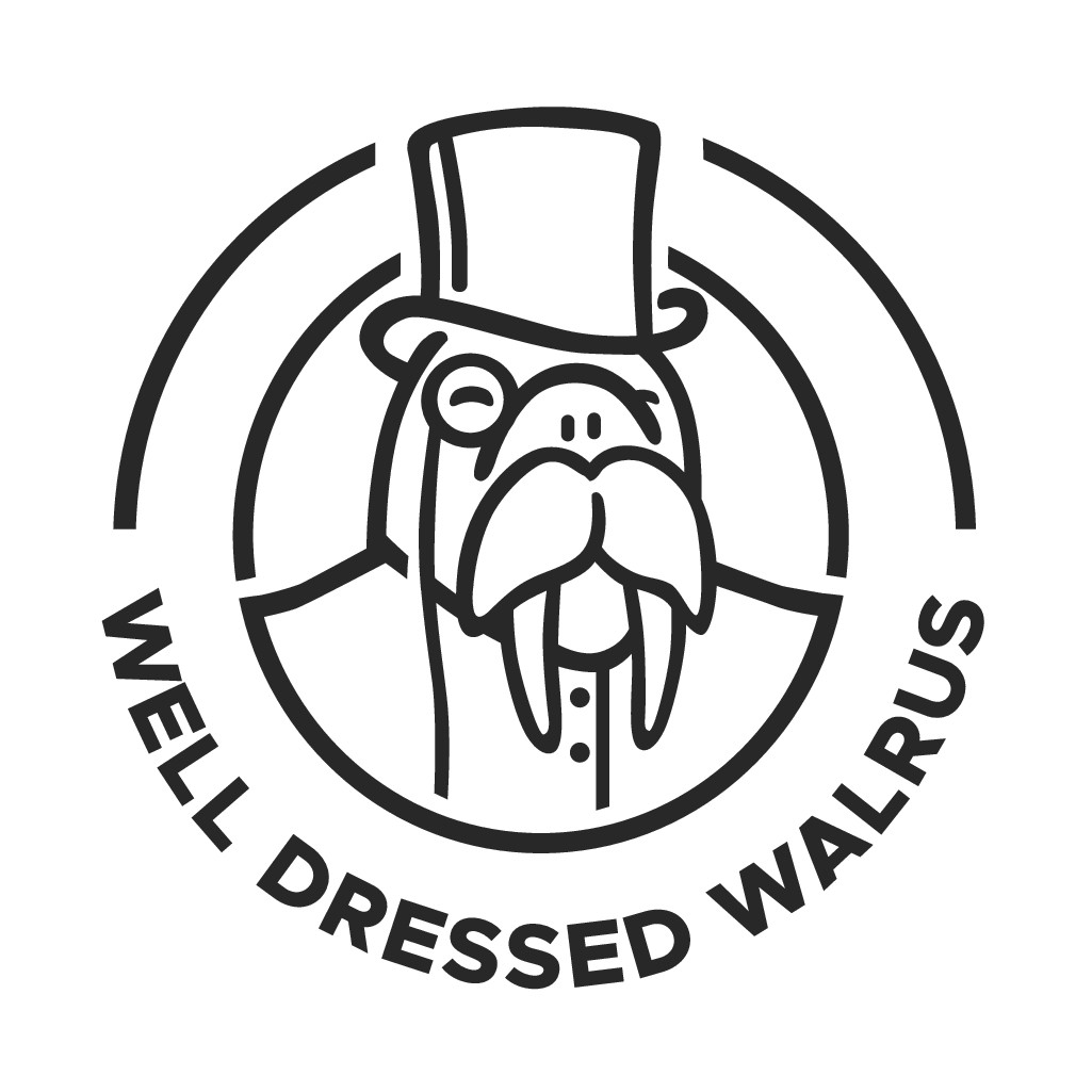 WELL DRESSED WALRUS - Refresh our logo for our 10 year anniversary