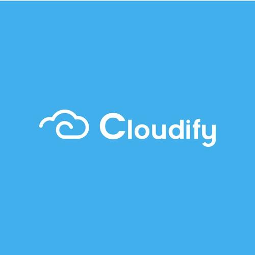 Cloudify Simplistic Logo Design