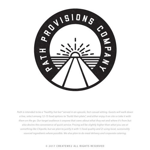Logo badge design for a restaurant
