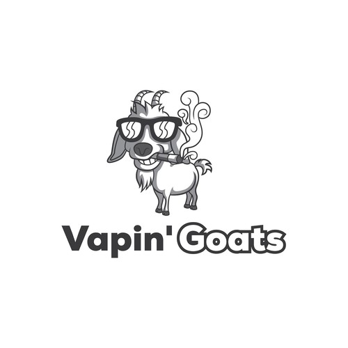 Create a capturing goat cartoon for vapers