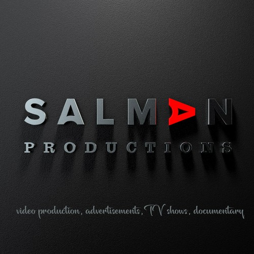 SALMAN productions minimalistic letter design