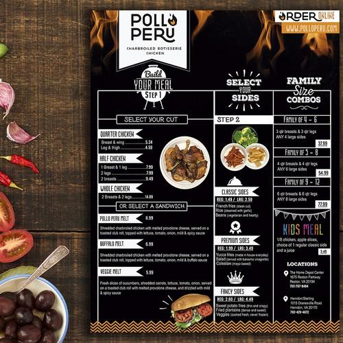 Menu Pollo Peru