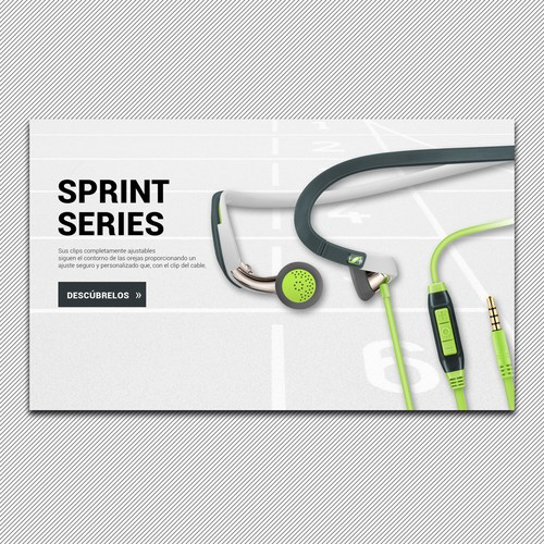 sport headphones banner design