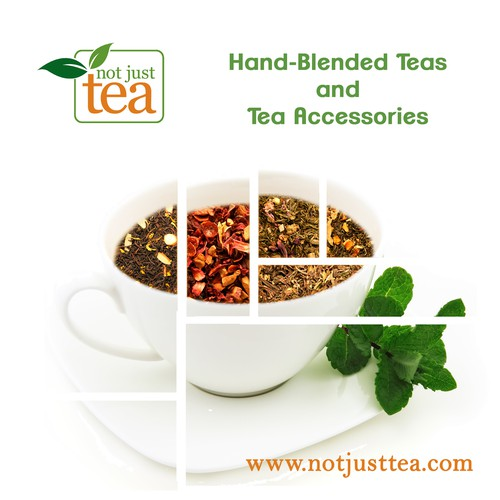 Create a modern backdrop banner for beloved online tea company