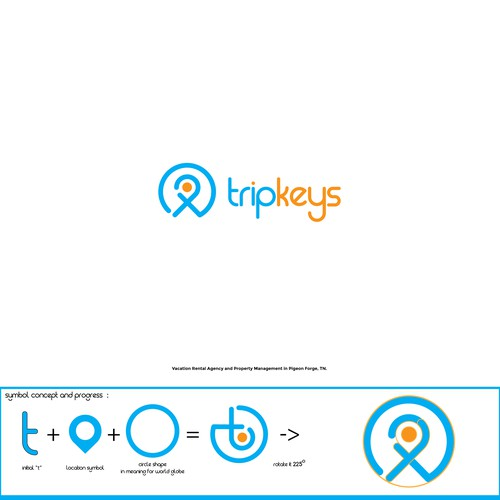simple logo for tripkeys