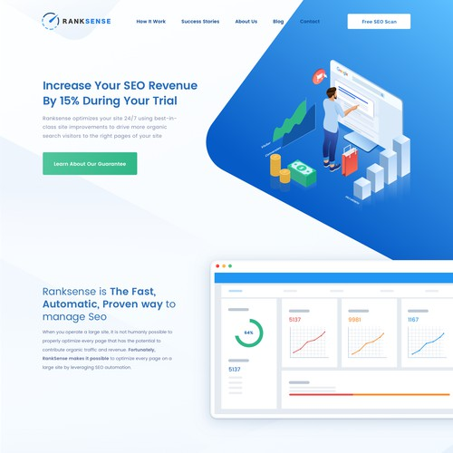 Home page for SEO service company