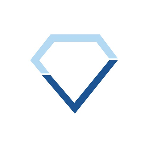 Logo concept for diamond company
