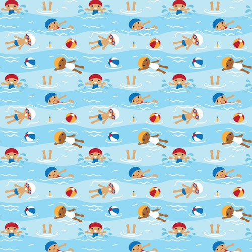 Swimming textile design