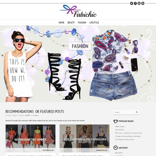 Fabichic - Fashion blog design