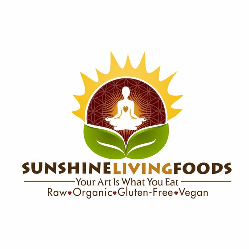 logo for Sunshine Living Foods