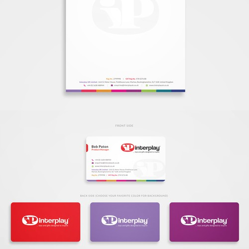 Colorful Stationery Design for Toy Company