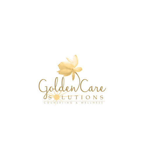 Create a counseling logo for Golden Care Solutions