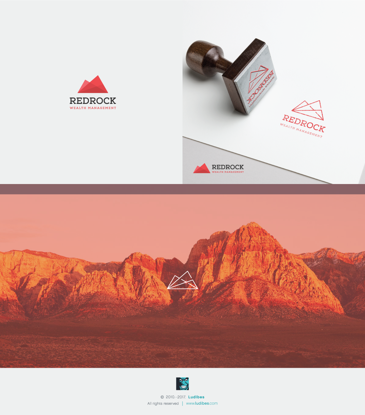 Redrock Wealth Logo Design